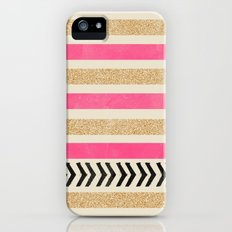 PINK AND GOLD STRIPES AND ARROWS Slim Case iPhone (5, 5s)