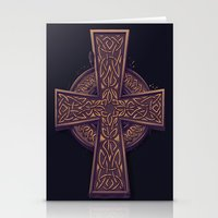 celtic Stationery Cards featuring Celtic Cross by pakowacz
