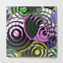 HypnoColour - Abstract, geometric, artwork Metal Print