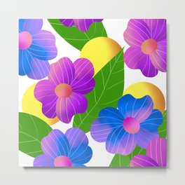 Floral pattern design Metal Print