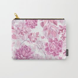PINK SUCCULENTS #society6 Carry-All Pouch