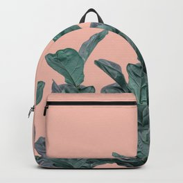 Rubber trees in group with beige pink Backpack