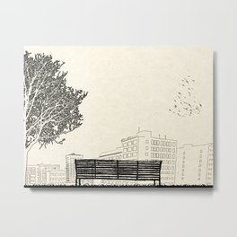 Tom's Favourite Spot — Angels Knoll Park, LA — (500) Days of Summer Metal Print