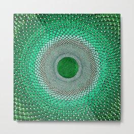 Portal - Emerald Mandala Dotwork  Metal Print