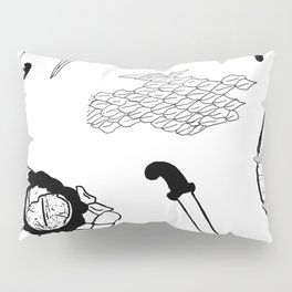 Daggers & Snakes Flash Tattoo Version Pillow Sham