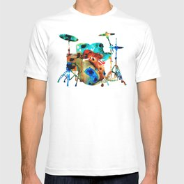 The Drums - Music Art By Sharon Cummings T-shirt