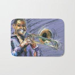 Jazz Trombonist Bath Mat