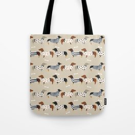 Dachshund doxie sweaters cute dog gifts dog breed dachsie owners must haves Tote Bag
