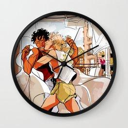Achilles & Patroclus laundry day Wall Clock