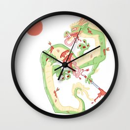 Dragon Battle Wall Clock