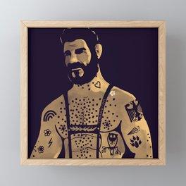 Octobear Framed Mini Art Print