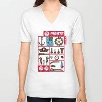 kit king V-neck T-shirts featuring pirate kit by blablasah