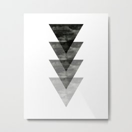 Geometric / Triangle Art Metal Print