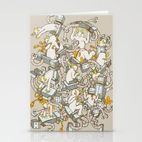 inner demons Stationery Cards featuring Inner Demons by Katie Owens