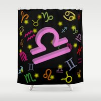 libra Shower Curtains featuring Libra by The Image Zone