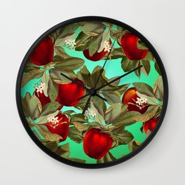 Lush Apples Wall Clock