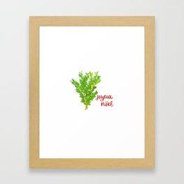 Joyeux  Nöel Christmas Boxwood Framed Art Print