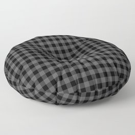 Original Tincup Grey and Black Rustic Cowboy Cabin Buffalo Check Floor Pillow