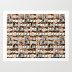 windows of NYC Art Print