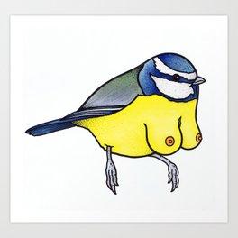 Blue Titty Art Print