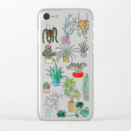 Houseplants Clear iPhone Case