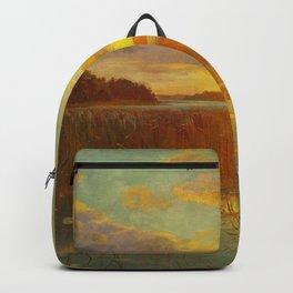 Ninigret Salt Pond, Charlestown, Coastal Rhode Island sunset landscape painting Backpack