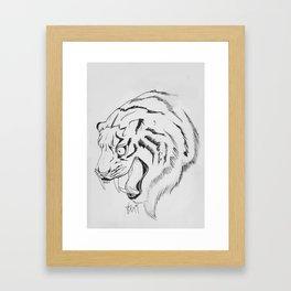 Inked Tiger Framed Art Print