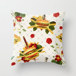 cheeseburger in gangstas paradise Throw Pillow