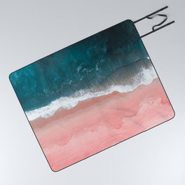 Turquoise Sea Pastel Beach III Picnic Blanket