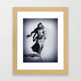 Walking on water means he conquered death! Framed Art Print