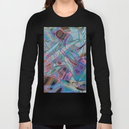 Colorful Abstract Stained Glass G302 Long Sleeve T-shirt