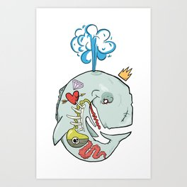 Whale's Belly Art Print