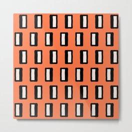 Chad Pattern Orange 2 Metal Print