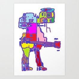Guitarman Art Print