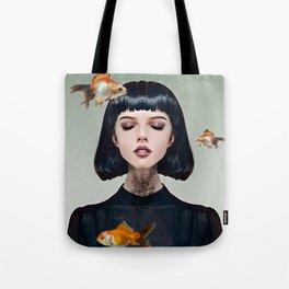 Goldfish Dreaming Tote Bag