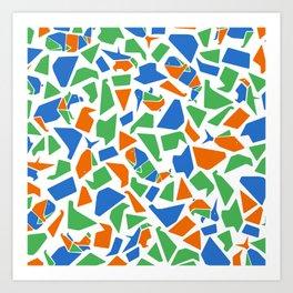 Mosaico Papiroflexia  Art Print
