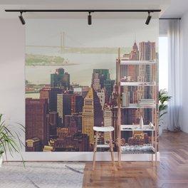 New York City Skyline Colors Wall Mural