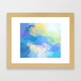 Colorful Abstract - blue, pattern, clouds, sky Framed Art Print