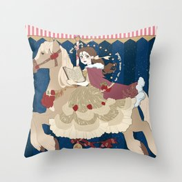 Carousel: Head in the Clouds  Throw Pillow