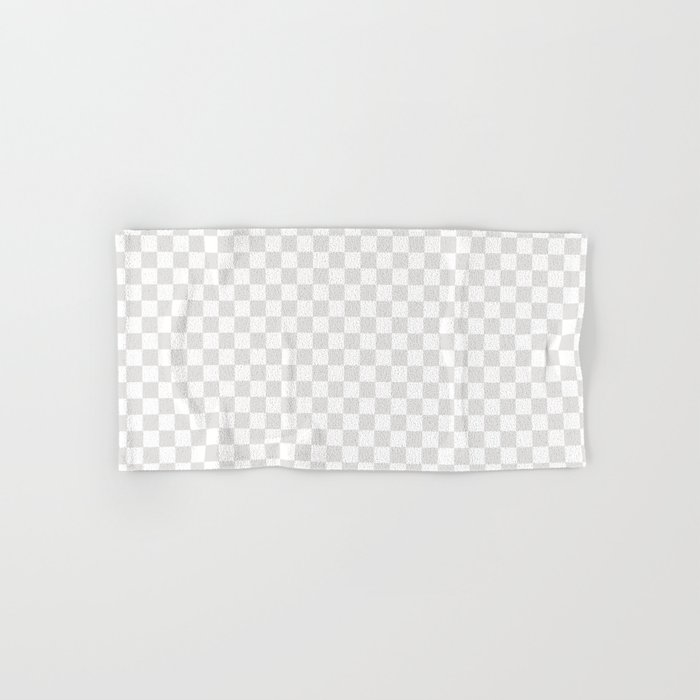 Checker (Platinum/White) Hand & Bath Towel