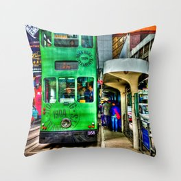 Ding Ding Cable Car Throw Pillow
