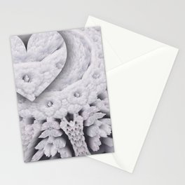 heart in openwork Stationery Cards