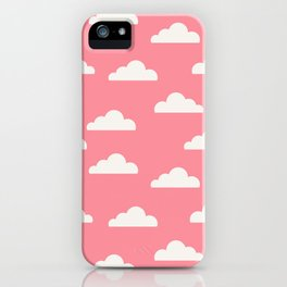 Clouds Pink iPhone Case