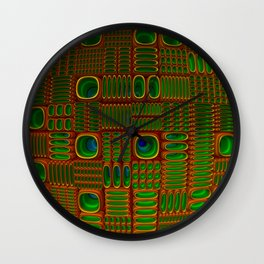 Ovalated pitted sphere Wall Clock