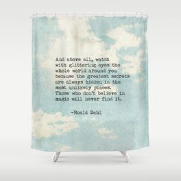 Roald Dahl Glittering Eyes Shower Curtain
