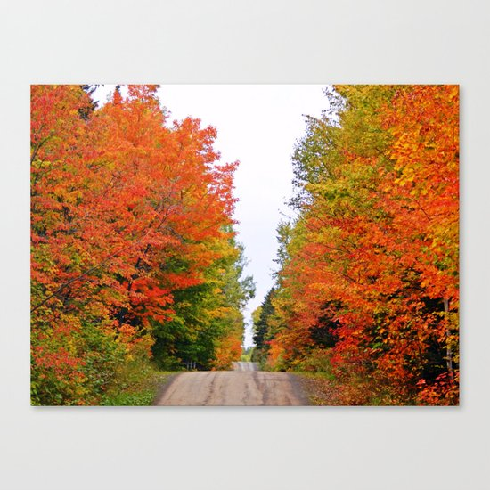 Rolling Through the Hills of Autumn Canvas Print