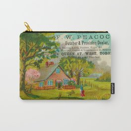 Peacock House Vintage Trade Card Carry-All Pouch