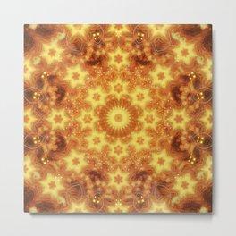 Flow of Ceation Mandala Metal Print