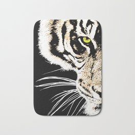 Art print: The eye of the tiger Bath Mat