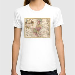 Vintage Map of North America (1760) T-shirt